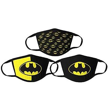 3PCS Batman Cloth Face Masks for Men Women Washable,Reusable,Breathable