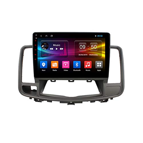 TypeBuilt Android Autoradio 9' Pantalla Tactil para Coche HD Radio De Coche Bluetooth SWC per Nissan Teana J32 2008-2013 Coche Audio FM/Am/RDS Radio Video Player Bluetooth Radio Pantalla,Px6