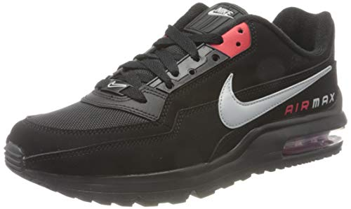 Nike Mens AIR MAX LTD 3 Running Shoe, Black/LT Smoke Grey-University RED,44 EU