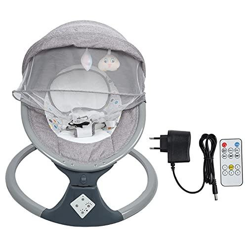 Ejoyous Columpio para Bebés con Bluetooth con Movimiento De Balanceo Natural En 5 áreas De Columpio Ajustables, Hamaca Incl. 8 Melodías Y Función De Sincronización De 3 Pasos, con Control Remoto(EU)