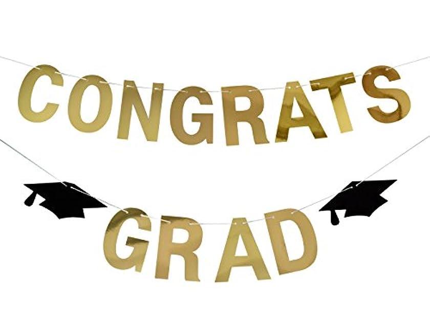 Firefairy Congrats Grad Gold Banner-Graduation/ Grad Party Decorations