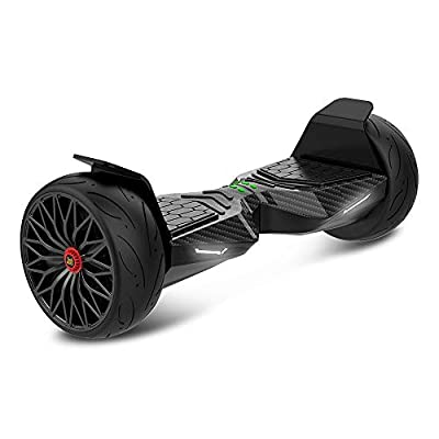 """TWO DOTS Hoverboard Off Road All Terrain Self-Balancing Hoverboard Bluetooth Speaker and LED Lights APP Support 8.5"""" Solid Rubber Two Wheels Self Balancing Scooter UL Certified for Adults/Kids Carbon"""