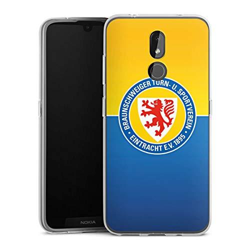 DeinDesign Silikon Hülle kompatibel mit Nokia 3.2 Case transparent Handyhülle Eintracht Braunschweig Offizielles Lizenzprodukt Fußball