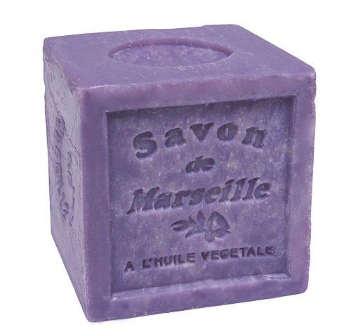 Savon de Marseille Seifenblock Lavendel 72% Pflanzenöl Seife Vegan 300g