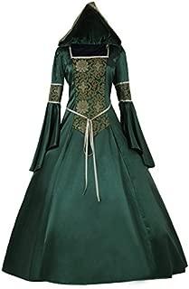 CosplayDiy Women's Medieval Hooded Fancy Dress Victorian Costume