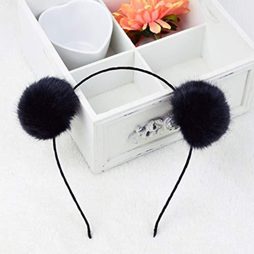 Faux Fluffy Rabbit Fur Ball Cat Ears Panda Hair Hoop Headband Xmas Party Cosplay