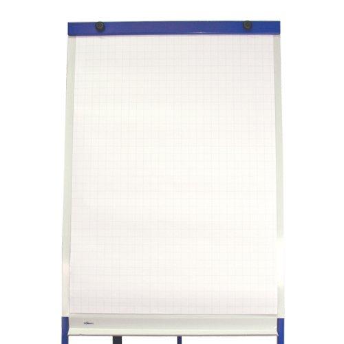 Office Line, 5x Flipchartblöcke, je Block 20 Blatt, 67,5x98 cm, 80g, kariert, Papier für flipchart, Flip-Chart Block, Art.Nr.: 770002