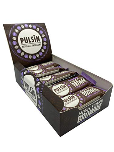 Pulsin Chocolate Hazelnut High Fibre Brownie Protein Bar Healthy, Nutritional Pre Post Workout 35 g x 18 Bars