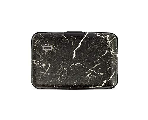 Ögon Smart Wallets - Stockholm Aluminium Geldbörse, RFID-Blockierung, 10 Karten und Banknoten (Marble)