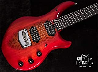 Ernie Ball Music Man Majesty 7 7-String Electric Guitar Red Sunrise (SN:M11756)