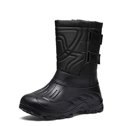 Botas de Nieve Al Aire Libre Hombre Invierno Zapatillas de Montaña Impermeables Antideslizantes Trail Zapatos Forro Piel Calientes High Top Velcro