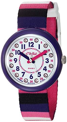 Flik Flak Mädchen Analog Quarz Uhr mit Textil Armband FPNP042