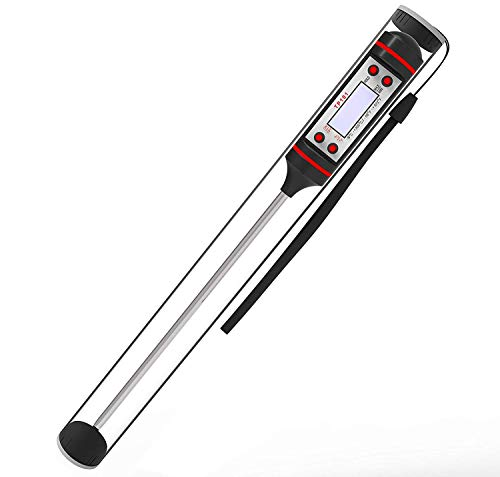 Meat Thermometer Digital Cooking Thermometer [5.9 Inch Long Probe] with Instant Read, LCD Screen, Anti-Corrosion, Best for Kitchen, Grill, BBQ, Milk, and Bath Water,