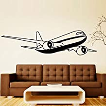 100x26cm,Wall Stickers for Bathroom,Wall Tattoo Art, Airplane Cartoon for Kids Rooms Adhesive Poster Removable Art Ornament Refrigerator Decoration Office Background Gift Waterproof Acrylic