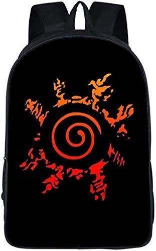 Cartoon Naruto - Mochila de doble capa, correa de hombro neutra, ajustable, resistente al desgaste, mochila escolar para viaje, ropa diaria (estilo 3)
