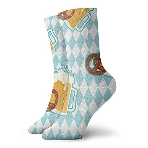 Kteubro Cerveza al aire libre y Pretzels tobillo calcetines cortos duraderos calcetines cuartos calcetines para deportes