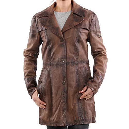Matchless Damen Limited Leder Jacke BAT Trench Brown 123307 ((42) S)