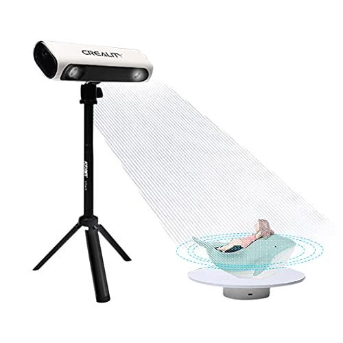 Creality CR-Scan 01 Handgerät 3D Scanner mit Stativ, Panel und Drehtisch, 0,1 mm Genauigkeit