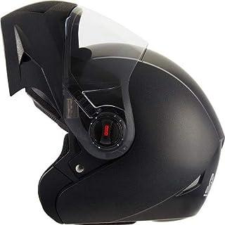 Steelbird Oscar Classic 5 Star Flip Up Helmet With Clear Visor (Black,L)