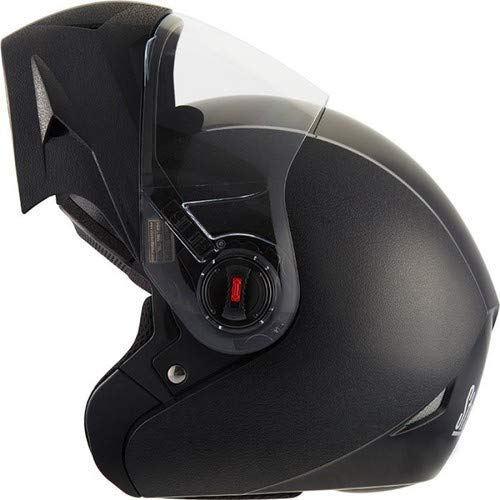 Steelbird Oscar Classic 5 Star Flip Up Helmet With Clear Visor (Black,L)