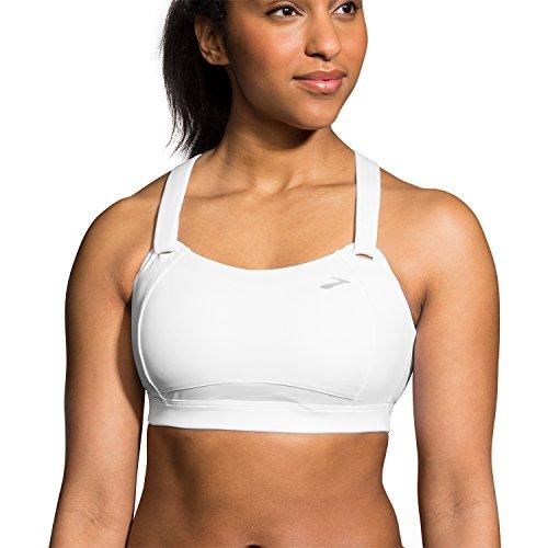Brooks Juno High Impact Wire-Free Sports Bra, 30C, White