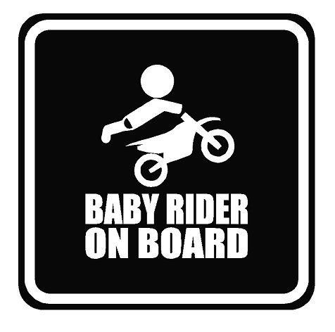 Baby on Board Motorcycle Dirt Bike 4' X 5' Vinyl Decal Sticker Window By Boston Deals USA