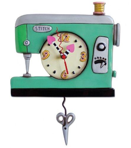 Allen Designs Stitch Sewing Machine Clock