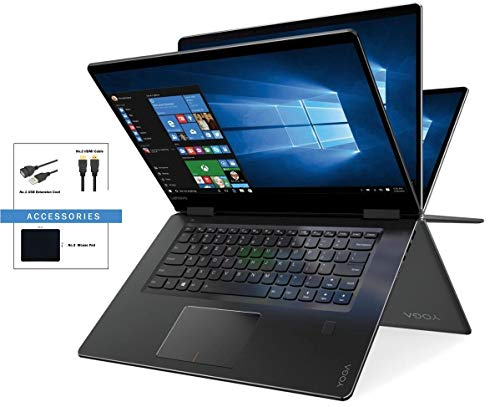 "Newest Lenovo Yoga 710 2-in-1 Flagship Premium 15.6"" Full HD (1920 x 1080) Touchscreen Laptop w/ Accessories 