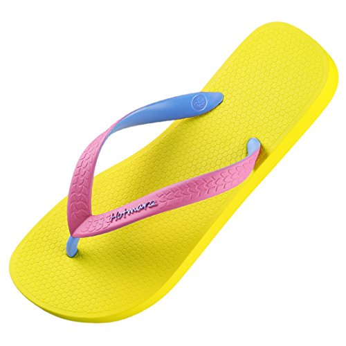 Sandalias amarillas tipo chanclas ligeras para mujer