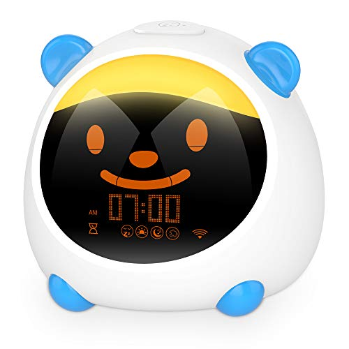 Kids Alarm Clock, WiFi Smart Time to Wake Alarm Clock for Kids, Children's Trainer, Nap Timer, Night Light Sleep Sounds Machine, Compatible with Alexa & Google Home (Smart Version)