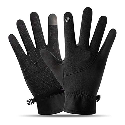 Bicycle Gloves Full Finger Long Breathable Gel Pad Shock Absorption Non-Slip Training Gloves Exercise Fitness Breathable and Close-Fitting Gloves Touch Screen Mountain Bike Gloves (Male and Female)