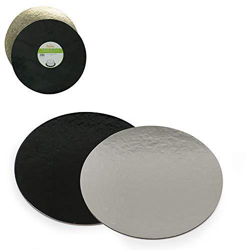 Decora Plat à Tarte, 36 cm, Noir/Argent