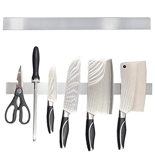 Goscrazy 20 Inch Universal Stainless Steel Magnetic Knife Bar Holder,Multipurpose Wall Mounted Magnetic Knife Strip,No Drilling Knife Storage Rack Block with Powerful Magnetic(Upgraded Version)