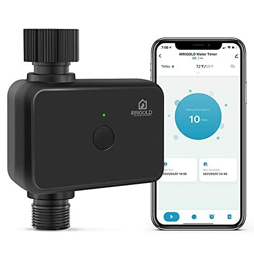 IRRIGOLD Bluetooth Bewässerungscomputer Bewässerungstimer Gartentimer Bewässerung für den Außenbereich
