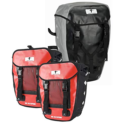 Red Loon Ideale Hitec 3 fietstassen bagagetas zwart/rood