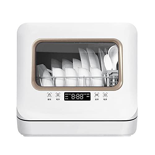 Mini Lavaplatos, Lavaplatos Compacto De Mesa Con 5 Configuraciones De Limpieza, Pantalla LED, Silencio, Entrada De Agua De Modo Dual, Armario Para Vajilla De Almacenamiento Para Cocinas Caseras