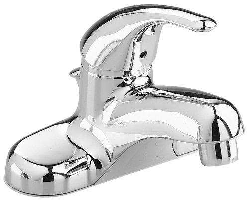 American Standard Colony - Grifo de lavatorio suave de un solo control con velocidad de conexión con drenaje, latón, cromado, 4.75 x 6.06 x 5.61 inches