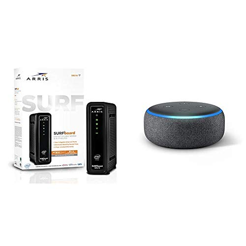 ARRIS Surfboard SBG10 DOCSIS 3.0 Cable Modem & AC1600 Dual Band Wi-Fi...