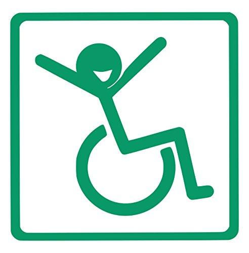 【全16色】車椅子マーク/車イス サイン/カー ステッカー/Car/リラックス/車用/シール/ Vinyl/Decal /バイナル/デカール/-2 (緑) [並行輸入品]