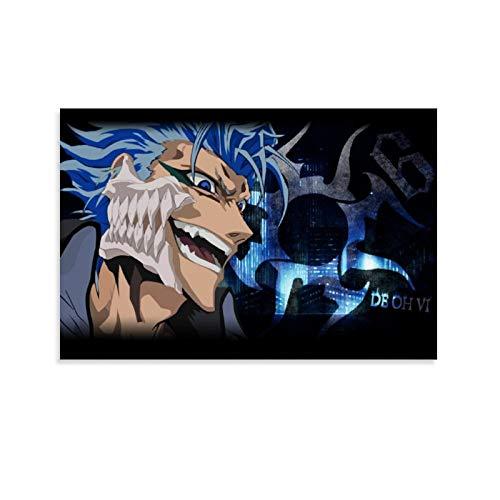 SHADIAO Anime-Poster Grimmjow Jaggerjack BLEACH Anime Arrancar Espada Nr. 6 Destroy Pantera (2) Poster, dekoratives Gemälde, Leinwand, Wandkunst, Wohnzimmer, Poster, Schlafzimmer, Malerei, 30 x 45 cm