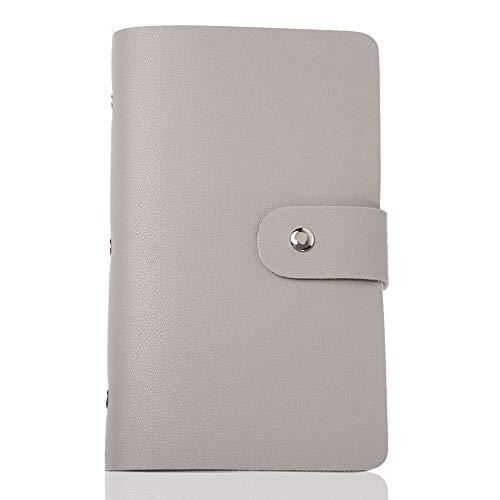 LASSE MOA カードケース 大容量 【156枚収納】 名刺ホルダー 名刺ファイル レディース メンズ カードホルダー スキミング防止 (グレー)