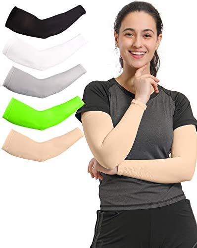 Arm Sleeves for Men Women 3 Pairs 5 Pairs Cooling Sun Sleeves to Cover Arms Prefect for Cycling product image