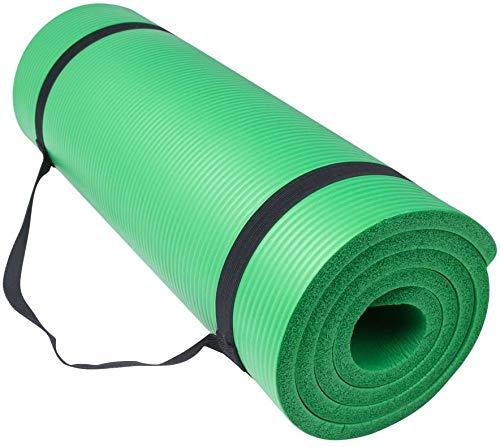 Smallrun Alfombra yoga pilates gruesa Esterilla Pilates Antideslizante 10mm Alfombrilla de Yoga Colchoneta de Yoga Esterilla Deporte Fitness 183x61x1cm (10MM-Verde)