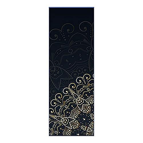 MOTOCO Yoga Handtuch Drucken Fitnesstuch - rutschfest, Leicht, Recyceltes, Saugfähiges Mikrofaser Yogahandtuch für Hot Yoga Bikram Ashtanga und Pilates(183X66CM.F)