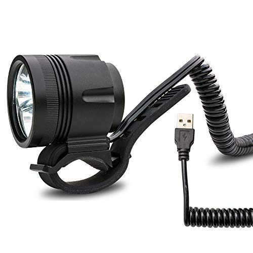 USB Helmlampe Stirnlampe Sport und Freizeitlampe mit 950 Lumen | 4 Leuchtmodi | kann mit allen 5V Powerbanks mit einem Output von 2A betrieben werden