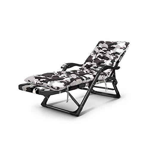 WSDSX Silla reclinable Plegable Sillón reclinable Plegable, Gravedad Cero con reposabrazos de Masaje, sillón para Viajes al Aire Libre, Cubierta de Playa, Silla reclinable, Siesta Interior, Perezoso