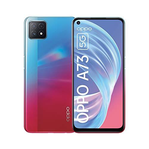 OPPO A73 5G Smartphone, 90 Hz 6,5 Zoll (16,5 cm) Bildschirm, 4040 mAh Akku + 18W Schnellladen, KI-Dreifachkamera, 8 GB RAM + 128 GB ROM, Navy Neon – Deutsche Version