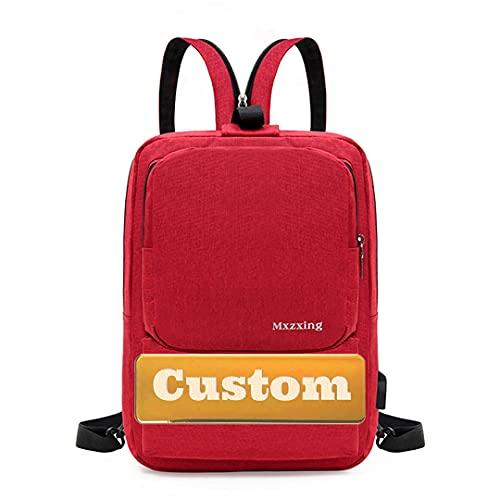WICKER WEAVING Nome Personalizzato School Computer Bag Gaming Laptop Borsa per Notebook da Gioco Uomo 13 Pollici Best Laptop Travel (Color : Red, Size : One Size)