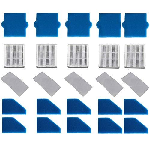 Juego de 5 filtros completos (25 piezas) para Pet & Family, Allergy & Family, X7, Thomas Aqua+ hoover alternativamente como Thomas Filter Set 99 (Art.-No. 787241)
