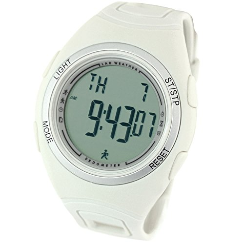 [LAD WEATHER] ウォーキング腕時計 歩数計 ストップウォッチ スポーツ アウトドア時計 lad011 (クールグレー)